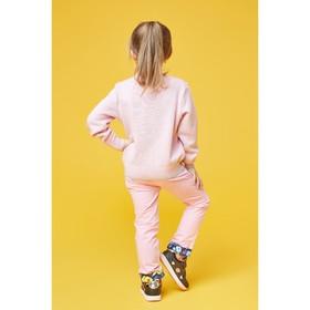 Брюки для девочки, рост 116 см (64), цвет розовый (арт. ZG 10217-P1)