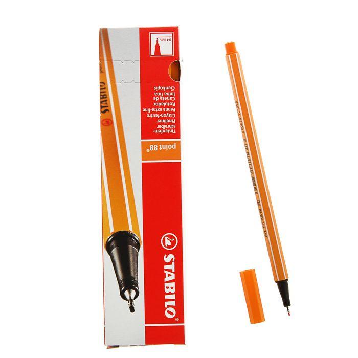 Ручка капиллярная Stabilo point 88 0.4 мм, чернила оранжевые, 88/54
