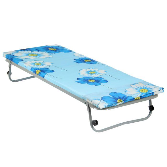 """Кровать раскладная 190х70 см """"Гость"""", сетка квадратное звено, матрас полиэстер 4 см, в чехле"""
