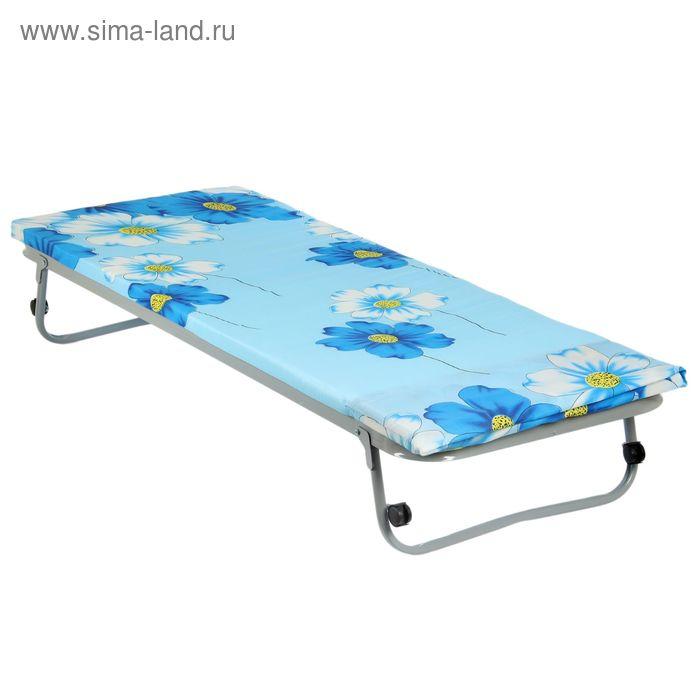 """Кровать раскладная 190х70 см """"Гость"""", сетка квадратное звено, матрас полиэстр 4 см, в чехле"""