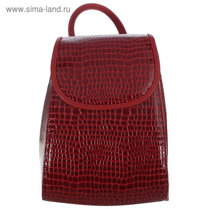 Рюкзак молодёжный на молнии, 1 отдел, красный/бордовый