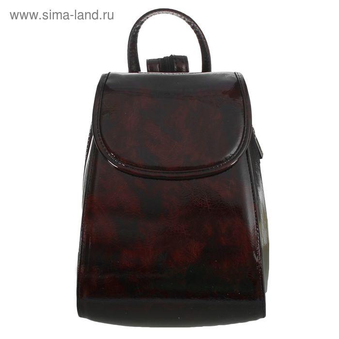 Рюкзак молодёжный на молнии, 1 отдел, коричневый