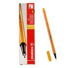 Ручка капиллярная Stabilo point 88 0.4 мм, чернила желтые, 88/44