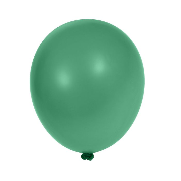 "Шар латексный 10"", металл, набор 100 шт., цвет зелёный"