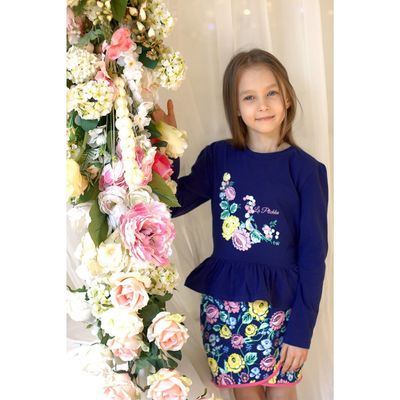 Джемпер для девочки, рост 104 см (60), цвет синий