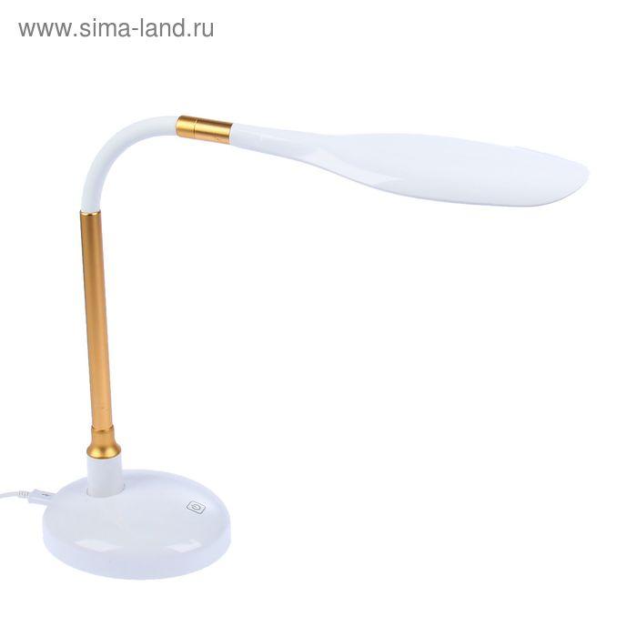 """Настольная светодиодная сенсорная USB-лампа """"Лаконичность"""" золотистая, 16 диодов"""