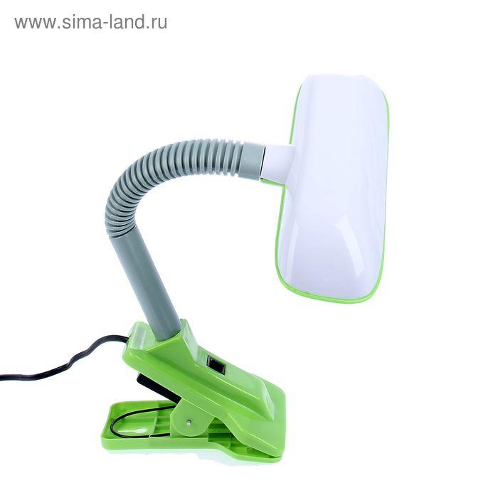 """Лампа настольная на прищепке """"Лаконичность"""" зелёная, 6 диодов"""