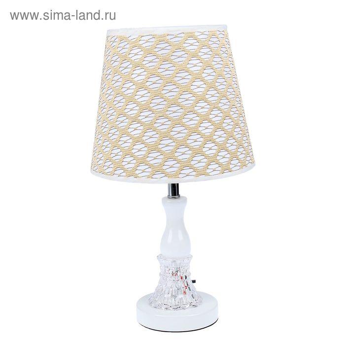 """Лампа настольная """"Медовый цвет"""" с переключателем и диодами"""