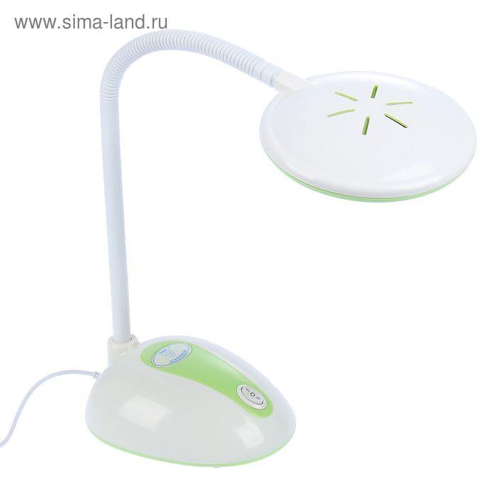 """Настольная светодиодная USB-лампа на прищепке """"Планета"""" зелёная, 12 диодов"""