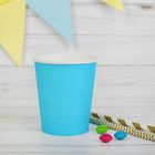 Glass, paper, monochrome, blue color, 205 ml