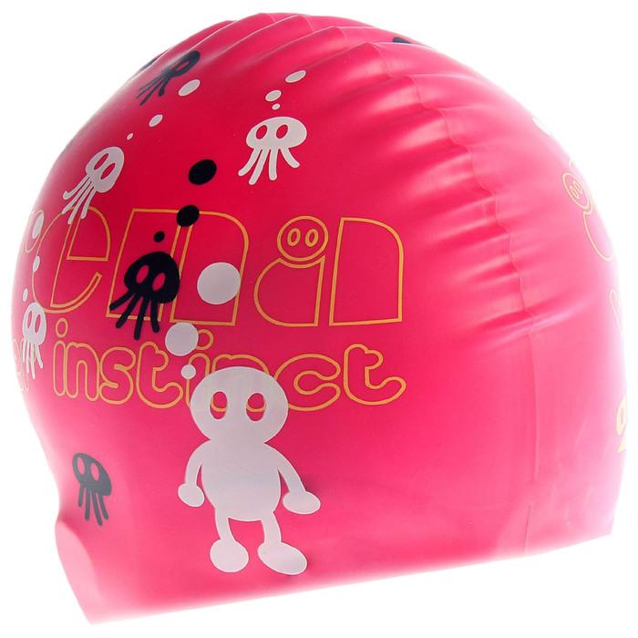 Шапочка для плавания детская ARENA Kun Cap Jr, безразмерная, цвет ярко-розовый с рисунком