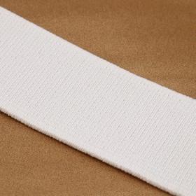 Лента эластичная 35мм 25±1м, цвет белый Ош