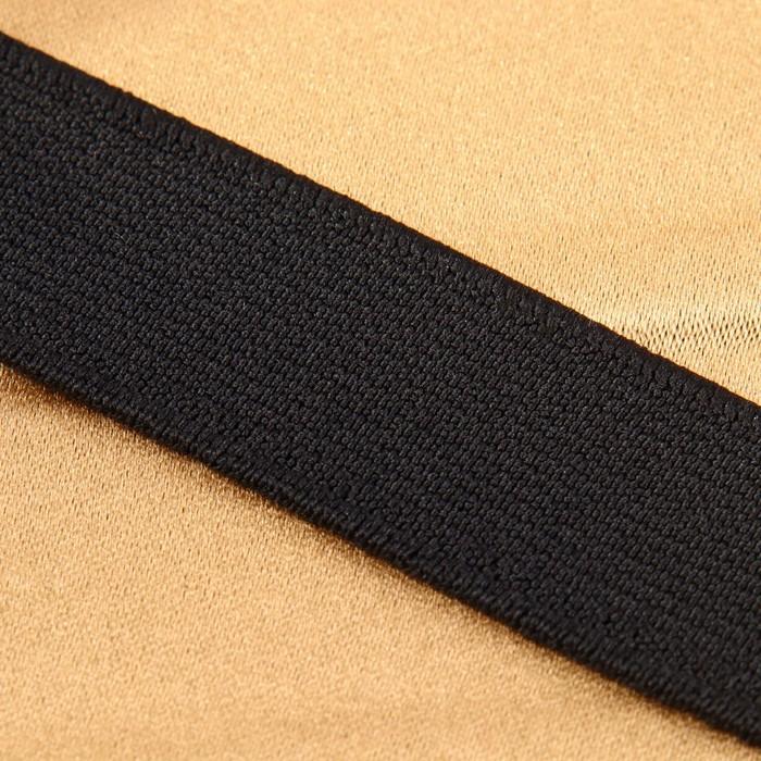 Лента эластичная, 25 мм, 25 ± 1 м, цвет чёрный - фото 687565