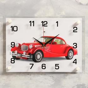Часы настенные прямоугольные 'Винтаж', 25х35 см  микс Ош