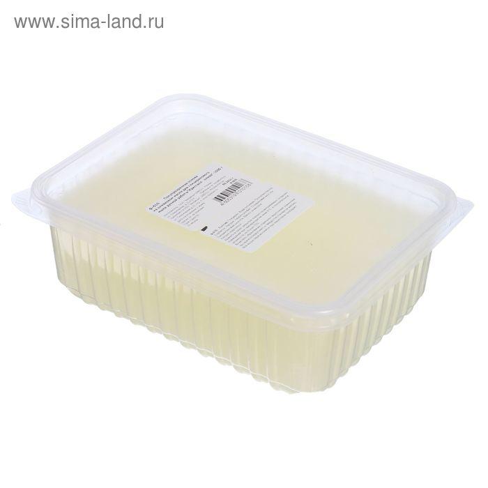 """Основа полупрозрачная на оливковом масле для глицеринового мыла ручной работы """"Кристалл олива"""", 1 кг"""