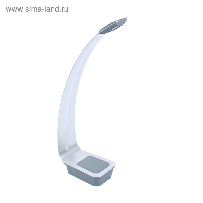 """Настольная светодиодная сенсорная USB-лампа """"Стиль"""" серебристая, 6 диодов"""
