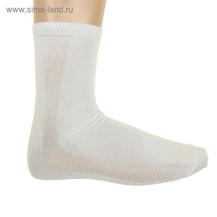 Носки мужские ФС03, цвет белый, р-р 27-29