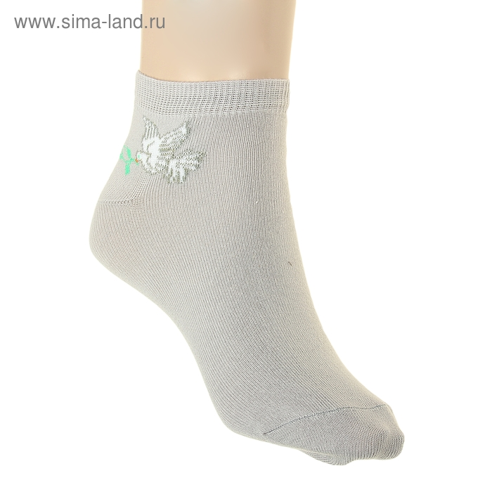 Носки женские ФС47-2762, цвет светло-серый, размер 27-29