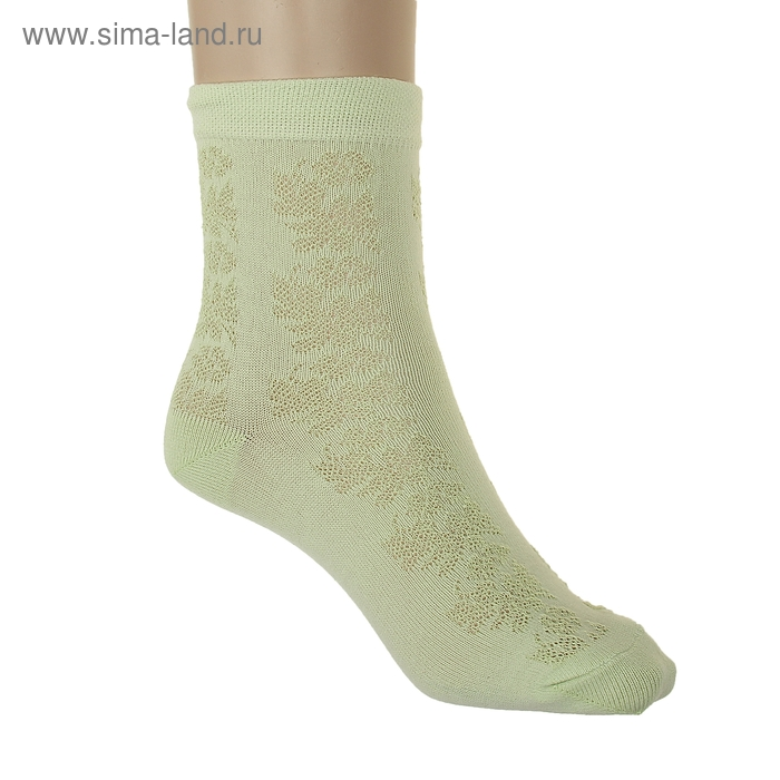 Носки детские АС56-003, цвет светло-салатовый, р-р 14-16