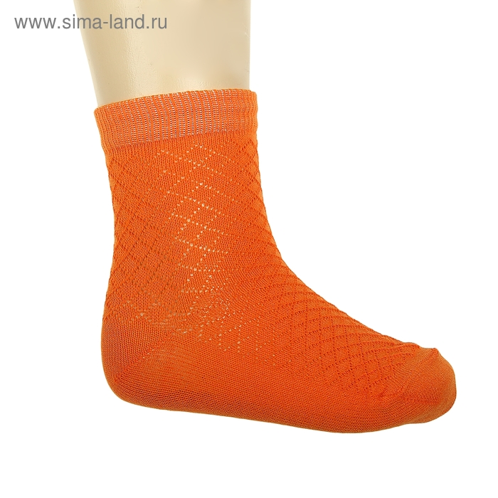 Носки детские ЛС58, цвет оранжевый, р-р 7-8
