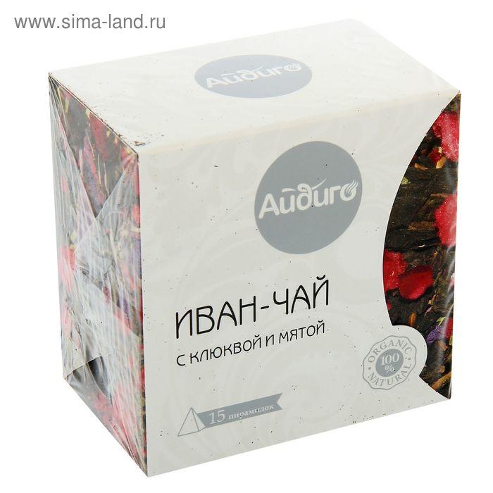"""Чай травяной Айдиго Иван-чай """"Клюква и мята"""", 15 пак*2,5 гр"""