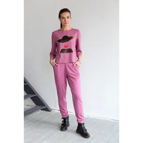 Блуза, размер 46, рост 164 см, цвет цикламен (4849а)