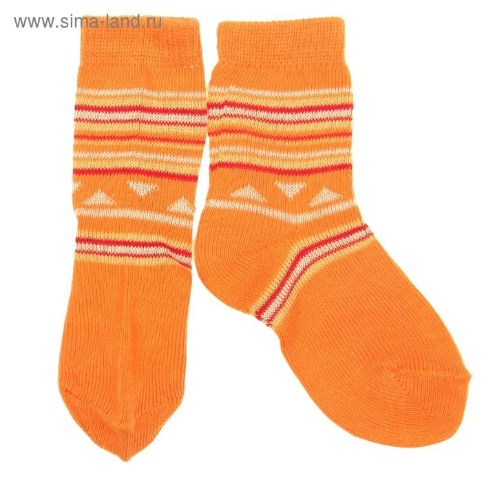 Носки детские ЛС46, цвет оранжевый, р-р 12