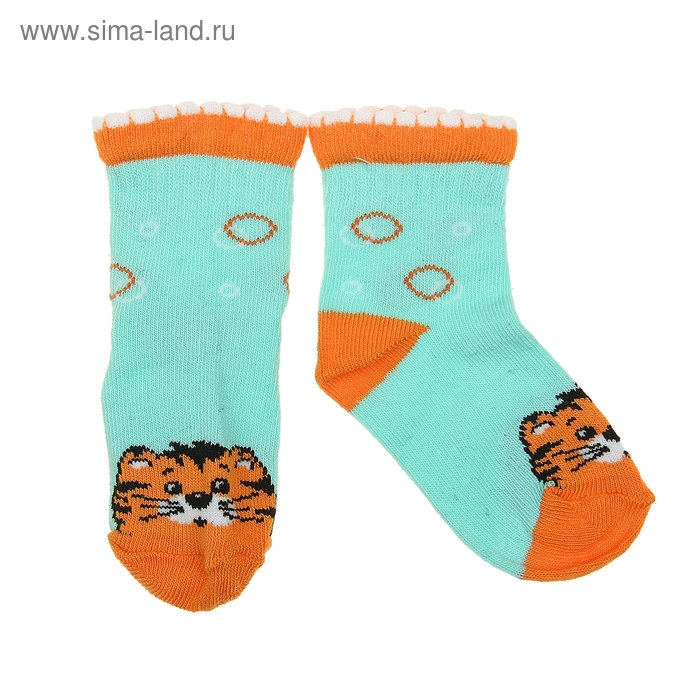 Носки детские 2ЛС112, цвет светло-бирюзовый, р-р 12-14