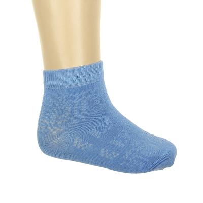 Носки детские, цвет голубой, размер 22-24