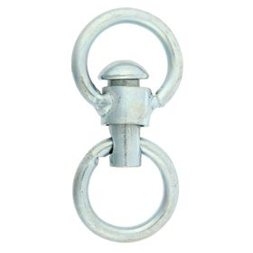 Вертлюг неразборный №3 большой, общая длина 8,1 см, диаметр кольца 3,8 см, толщина проволоки 0,6 см