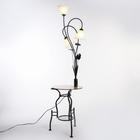 """Торшер """"Ландыш"""" чёрный, 3 лампы, h=160 см (220V 15W E27)"""