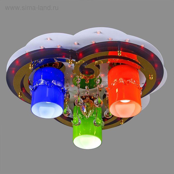 """Люстра """"Каролина"""" с диодами и дист. пультом, 3 лампы (220V 18W E27)"""