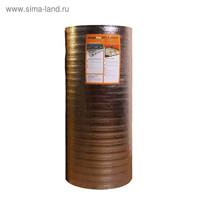 Мегафлекс теплоизолирующий материал из вспененного полиэтилена 4мм НПЭ-Л, 50м.кв
