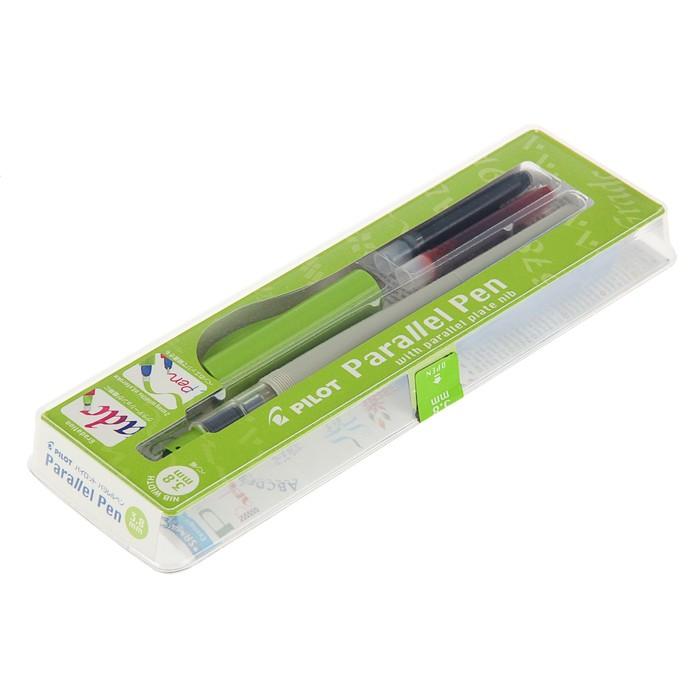 Ручка перьевая для каллиграфии Pilot Parallel Pen 3.8 мм, (карт. IC-P3) набор в футляре FP3-38-SS