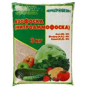 Удобрение минеральное Азофоска, 3 кг