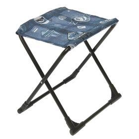Стул походный с пластиковыми уголками ПС+, 37,5 х 30 х 38,5 см, цвет джинс Ош