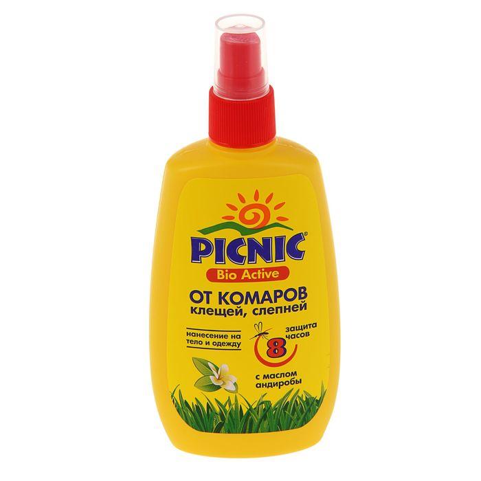 """Спрей репеллентный от комаров """"Picnic Bio Active"""", с маслом андиробы, 120 мл - фото 1646387"""