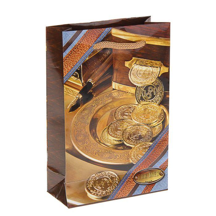 """Пакет подарочный """"Талер"""" 17,5 х 11,5 х 5 см"""