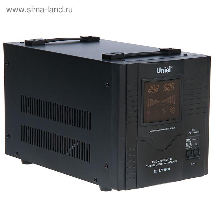 Стабилизатор Uniel RS-1/12000, напольный, релейный, однофазный, 12 кВА