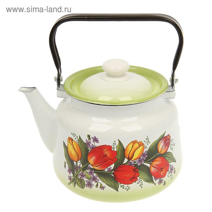 """Чайник с крышкой 3,5 л """"Весенний букет"""""""