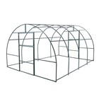 Каркас теплицы, 4 × 3 × 2 м, шаг 1 м, профиль 20 × 20 мм, толщина металла 1 мм, без поликарбоната, половинчатые арки