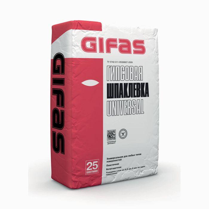 Шпаклёвка гипсовая Gifas Universal (финишная), 25 кг