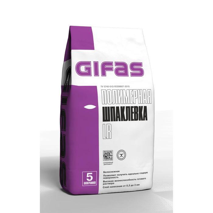 Шпаклёвка полимерная Gifas LR, белоснежная, 5 кг
