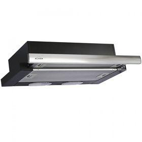 Вытяжка Elikor Интегра 50П-400-В2Л, встраиваемая, 400 м3/час, 2 скорости, чёрная/нерж. сталь