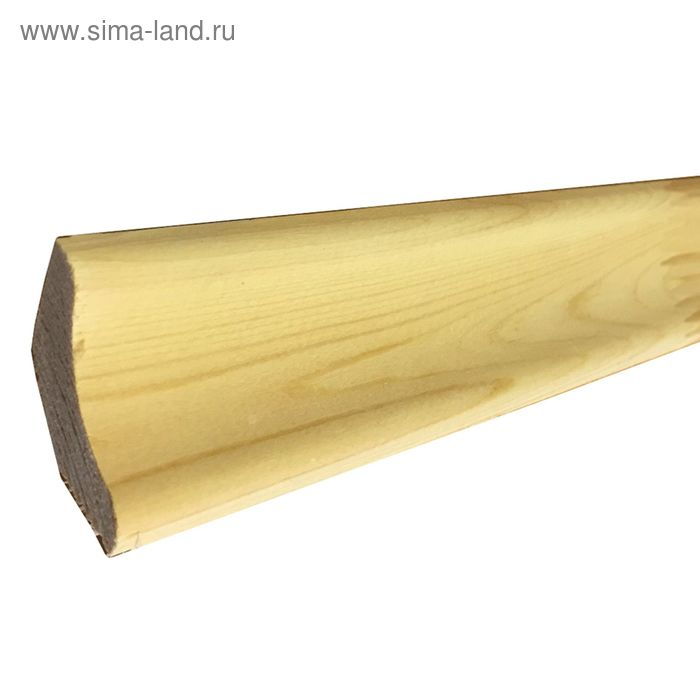 Плинтус срощенный напольный округлый 45х15х3000