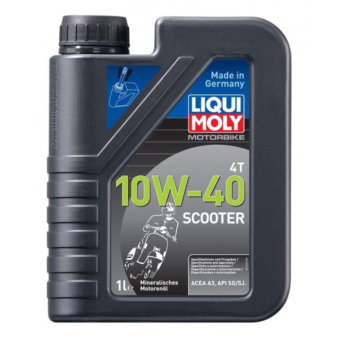 Моторное масло для скутеров Liqui Moly Racing Scooter 4T 10W-40 SG, 1 л