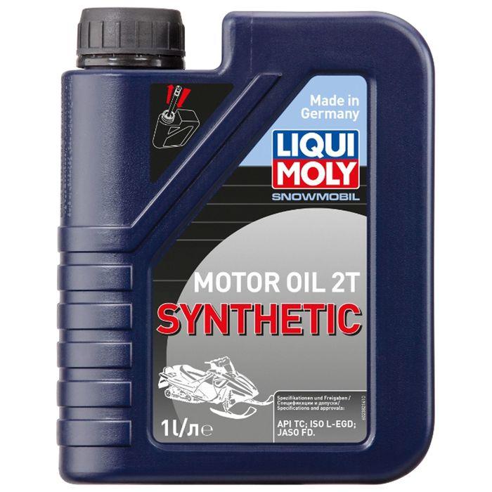 Моторное масло для снегоходов Liqui Moly Snowmobil Motoroil 2T Synthetic TC, 1 л
