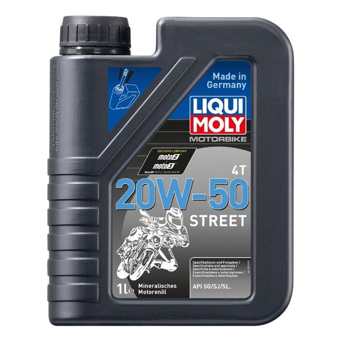 Моторное масло для мотоциклов Liqui Moly Motorrad 4T 20W-50 SG/SJ/SL, 1 л
