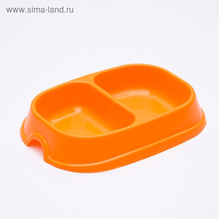 Миска 2 х 200 мл, оранжевая