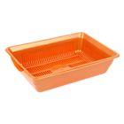 Туалет перламутровый глубокий с сеткой, 36 х 26 х 9 см, оранжевый